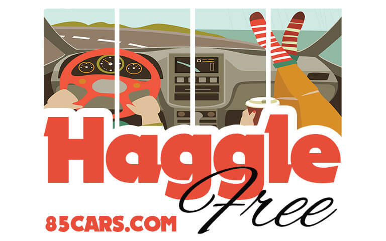 Haggle Free Graphic For 85Cars.Com
