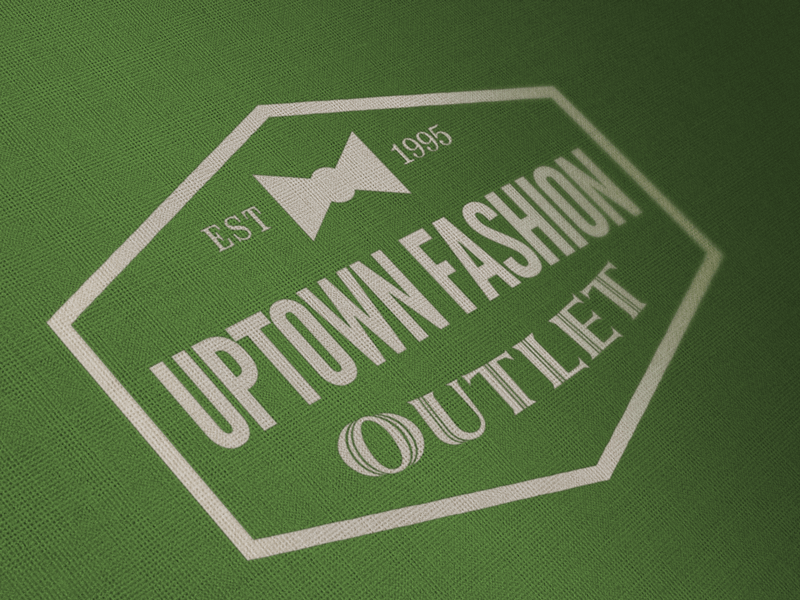 Uptown Fashion retail logo designed by David Trotter @bluedotagency