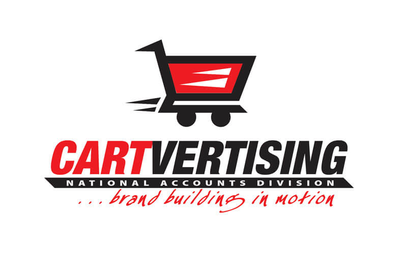 Cartvertising logo designed by David Trotter @ Blue Dot Agency