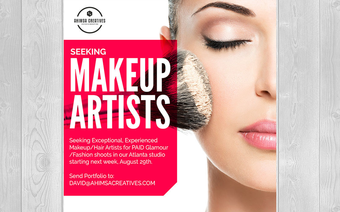 Blue Dot Agency makeup graphic for ad