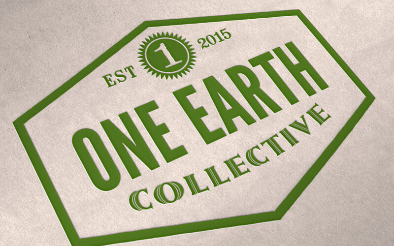 One Earth Collective logo designed by David Trotter @bluedotagency