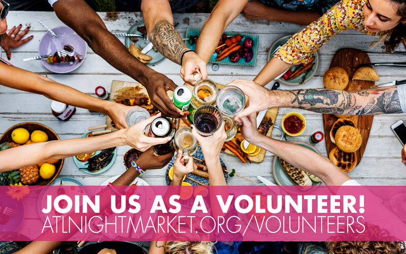 Volunteer ad for celebrate diversity night market event
